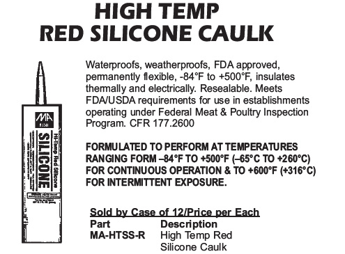 high temp silicone caulk