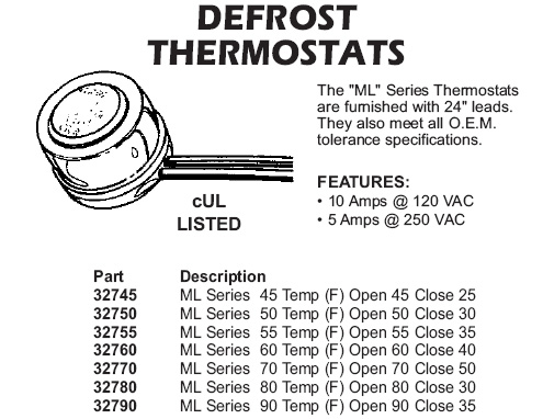 defrost thermostats