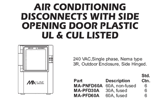 air conditioning disconnects