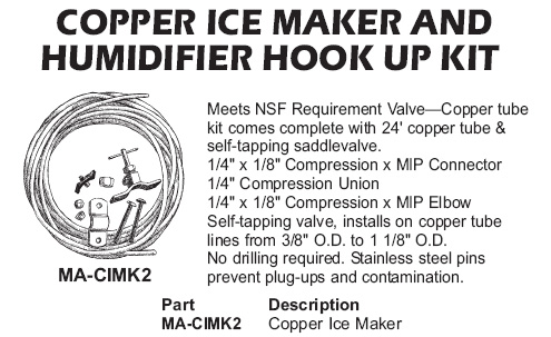 copper humidifier hook up kit