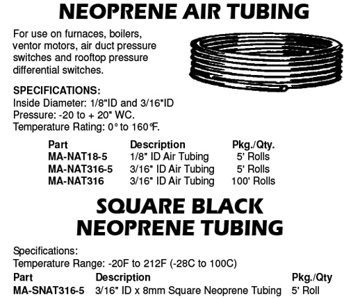 neoprene air tubing