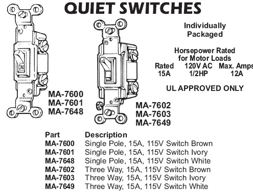 quiet switches