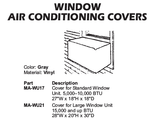 window unit covers